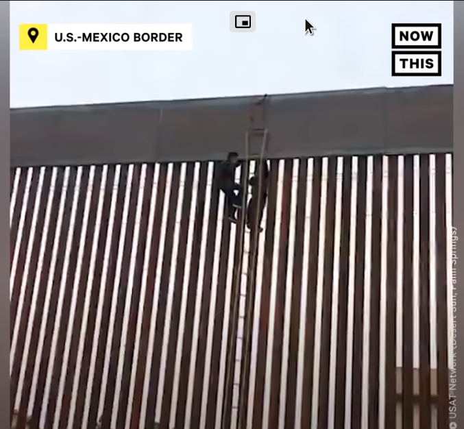 Man Climbs Over Trump's Border Wall