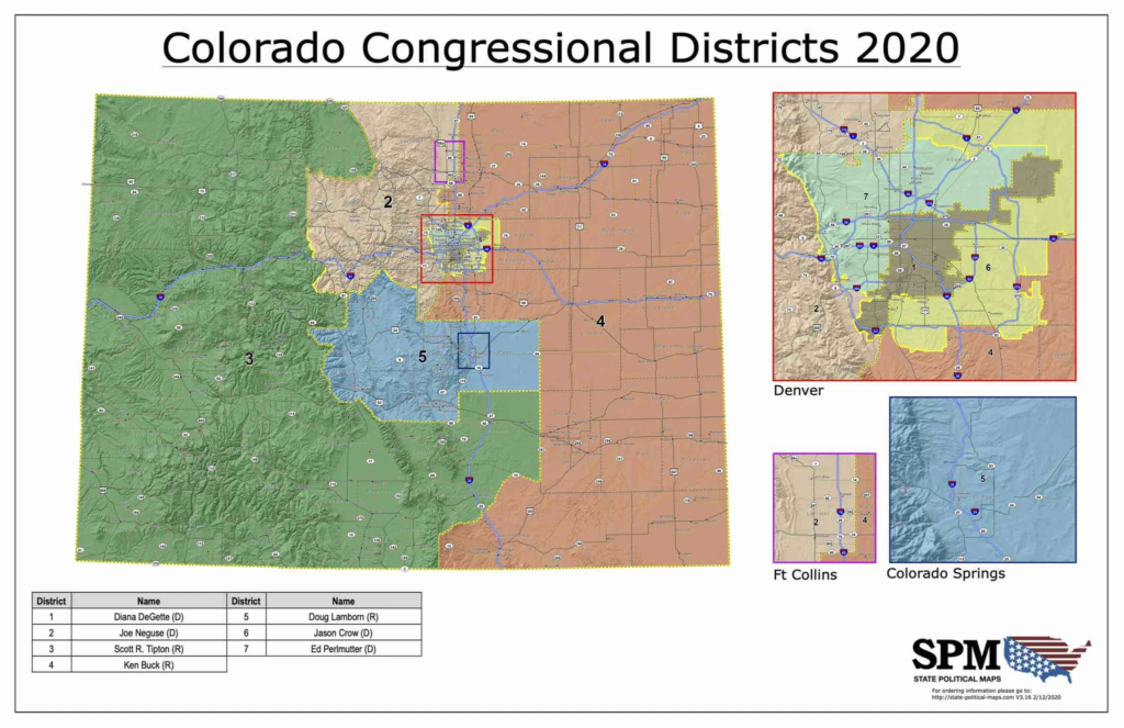 Colorado Congressional Districts 2020
