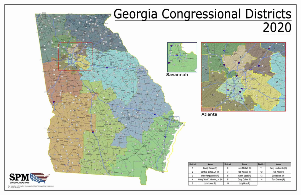 Georgia Congressional Districts 2020