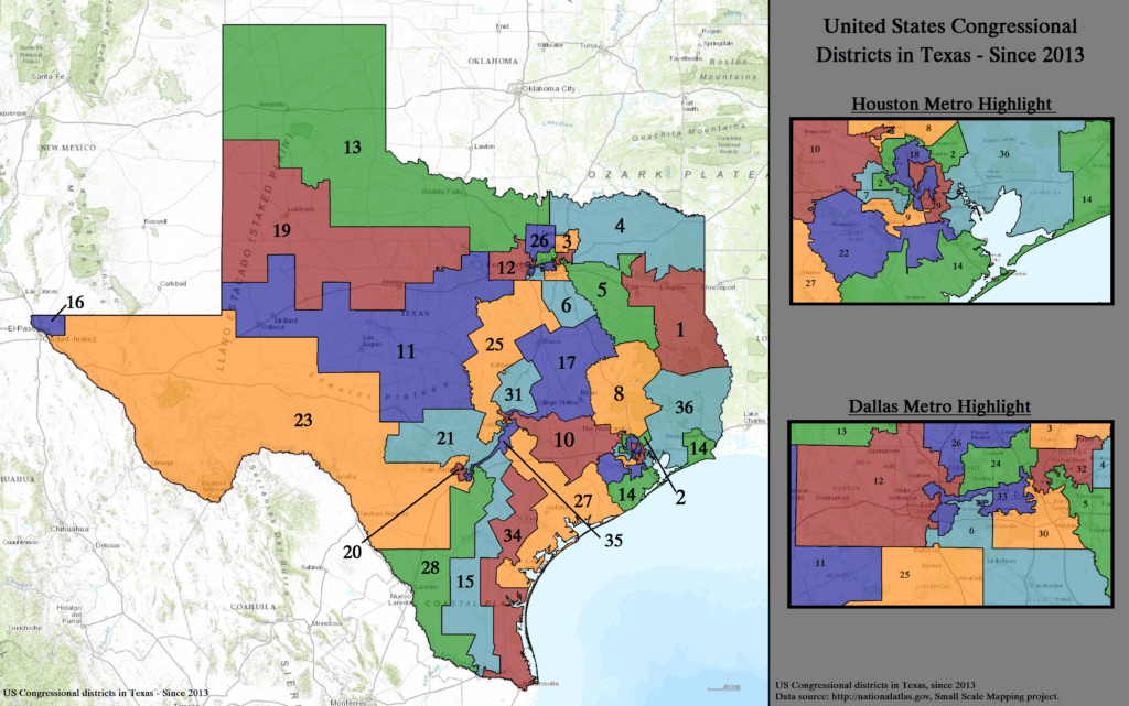 Texas Congressional Districts 2020