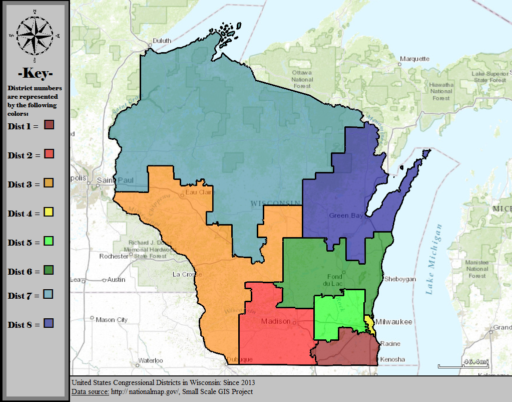 Wisconsin Congressional Districts 2020