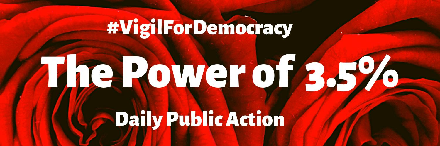 Vigil for Democracy Twitter Cover